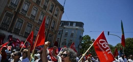 manifestacion en Portugal