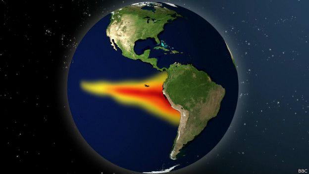 El Niño se caracteriza por un calentamiento de las aguas ecuatoriales del este del Pacífico.