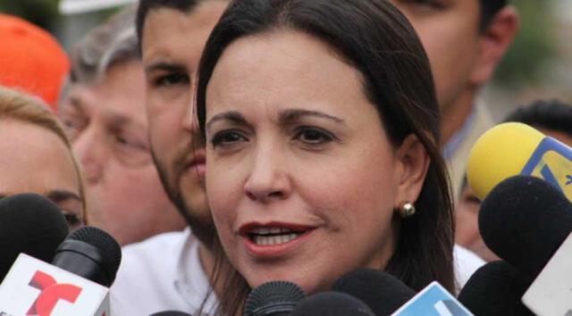 La dirigente opositora, María Corina Machado