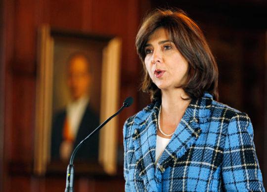 La canciller María Ángela Holguín