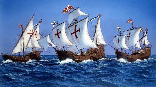 03 de Agosto de 1492. Cristóbal Colón sale del puerto de Palos de la Frontera (España).