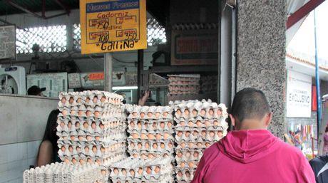 Afirman que el alza en el precio de los huevos se debe al aumento del alimentos, cartón, pabilo y bolsas.