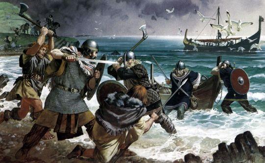 03 de Agosto de 881. En la región picarda de Abbeville (norte de Francia), el ejército de Luis III mata a 8000 vikingos en la batalla de Saucourt-en-Vimeu. El evento es celebrado en el poema Ludwigslied (la canción de Luis).