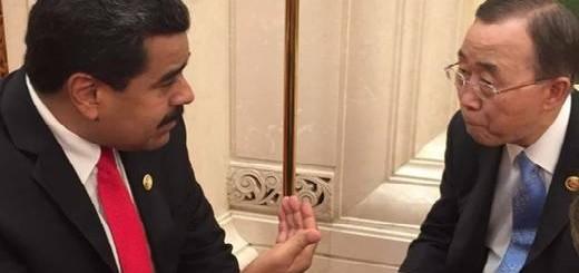 Maduro se reunión con el secretario de la ONU, luego del desfile en China. El Universal