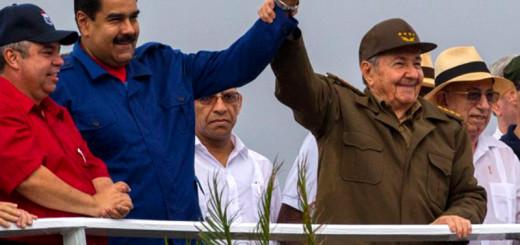 Presidente de Cuba, Raúl Castro y Presidente de Venezuela, Nicolás Maduro |Foto archivo