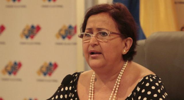 La presidenta del Consejo Nacional Electoral (CNE), Tibisay Lucena Foto: archivo
