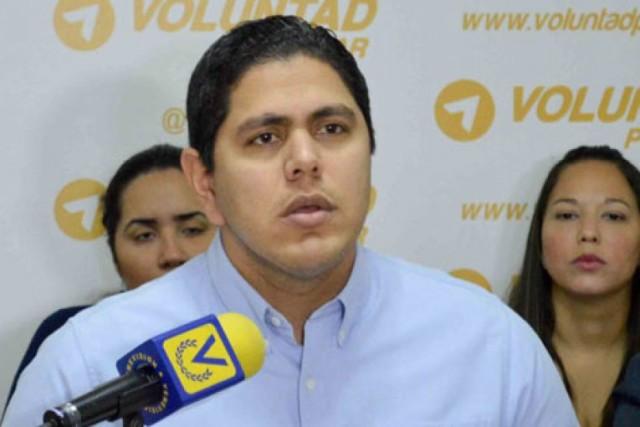 Lester Toledo, dirigente nacional del partido Voluntad Popular| Foto: archivo