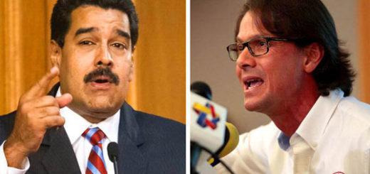 El presidente Nicolás Maduro y el presidente de Empresas Polar, Lorenzo Mendoza