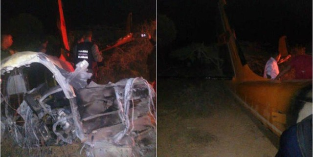 Avioneta caida en Flacón | Foto Referencial