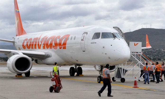 Cinco pilotos pertenecientes a la aerolínea estatal Conviasa renunciaron|Foto: cortesía