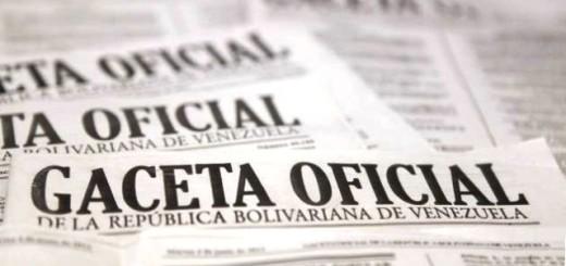 Gaceta Oficial |Imagen referencial
