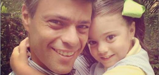 Manuela comúnmente envía dibujos así a su padre, la niña ha sufrido mucho con el encarcelamiento de Leopoldo López
