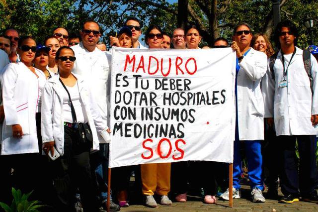 Protesta de médicos   Imagen de referencia