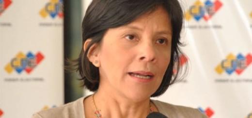 Sandra Oblitas, Rectora del CNE / Foto: Archivo