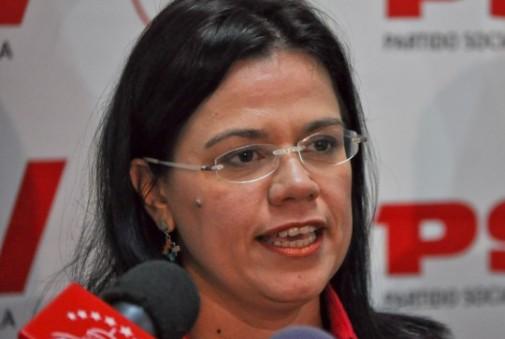 Blanca Eekhout,  candidata del Psuv a la AN por el circuito 4 del estado Miranda