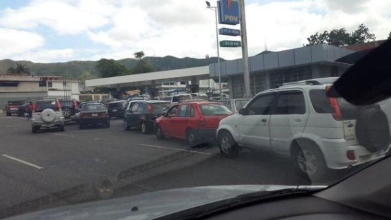 Colas para el suministro de Gasolina