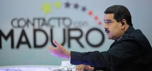 """Presidente Nicolás Maduro en su programa """"En contacto con Maduro"""""""