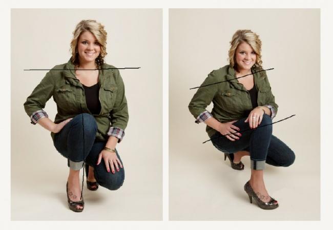Para que te veas más delgado en las fotos, evita formar una línea recta con los hombros, para lograr esto sólo debes girarte en un ángulo de 3/4. En la segunda foto vemos las manos reposando sobre el muslo, esto hace que la pose luzca más ligera y sofisticada.