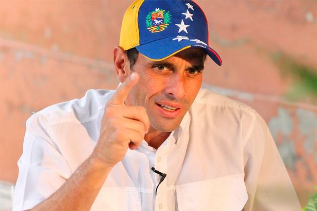 El gobernador de Miranda, Henrique Capriles   Foto: Archivo
