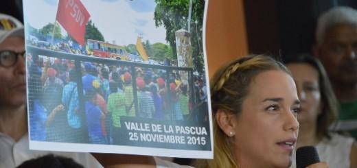 Lilian Tintori realizó rueda de prensa en la que se pronunció por el asesinato de Luis Manuel Díaz
