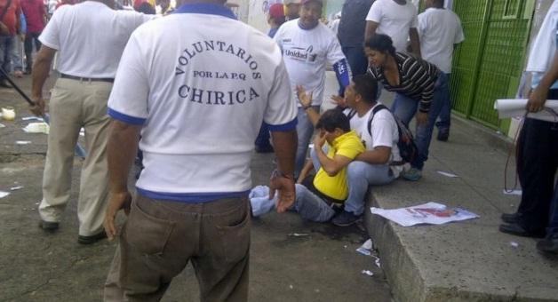 Puntos de la MUD fueron atacados por afectos al gobierno en San Félix
