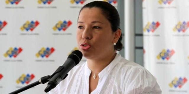 Tania D'Amelio, Rectora del Consejo Nacional Electoral (CNE)