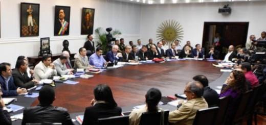 Nicolás Maduro y su tren ministerial / Imagen de referencia