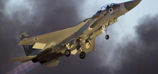 Avión de combate F-15 de la Fuerza Aérea israelí