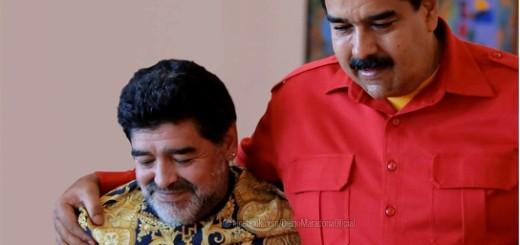 Maradona envió un mensaje a Nicolás Maduro vía Facebook
