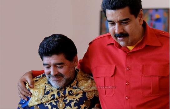 Nicolás Maduro celebró respuesta de Maradona a Capriles | Foto: Archivo
