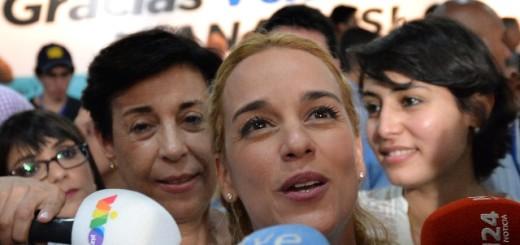 Lilian Tintori, esposa del líder opositor, Leopoldo López / Imagen de referencia