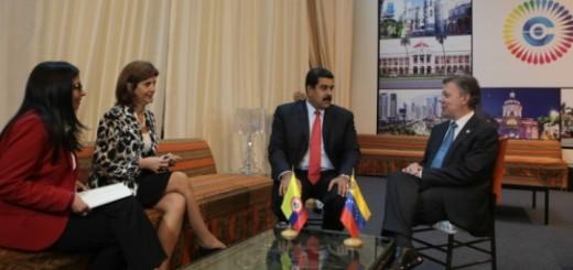 Los presidentes de Colombia, Juan Manuel Santos, y Venezuela, Nicolás Maduro | Foto: Twitter
