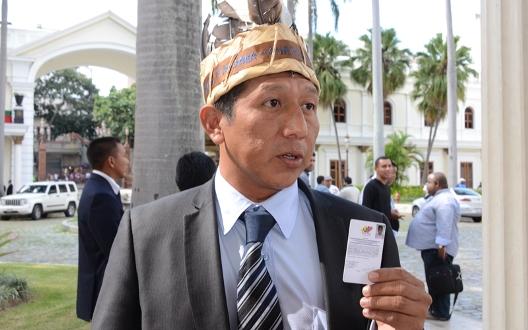Romel  Guzamana Diputado índigena impugnado por el TSJ