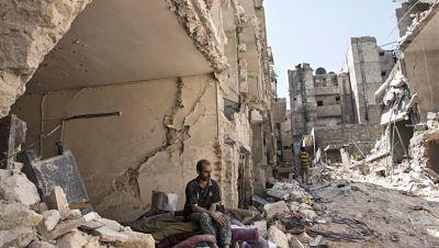 bombardeo en la ciudad de Enjarah