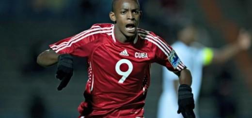 El delantero Maykel Reyes fue el único jugador cubano que marcó en la última Copa de Oro. (ARCHIVO)