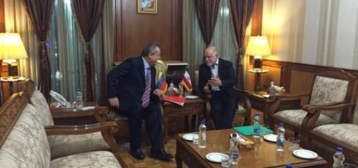 Eulogio Del Pino y Bijan Namdar Zangeneh | Crédito: Prensa Ministerio de Petróleo y Minería de Venezuela