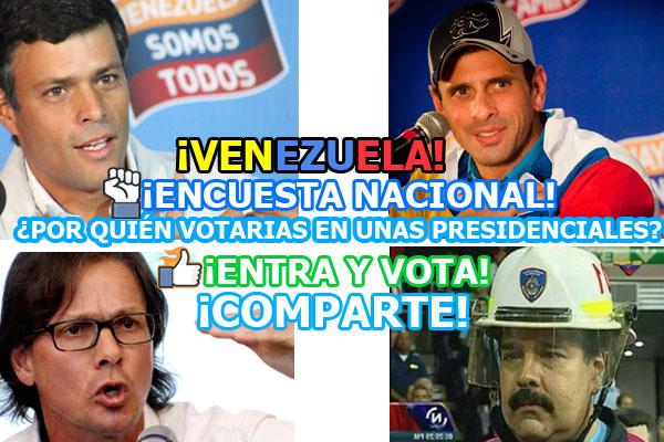 Si mañana fuesen las elecciones, ¿Por quién votarías para próximo presidente de Venezuela?