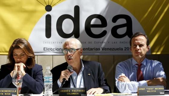 Foto: Miembros de la Iniciativa Democrática de España y las Américas (IDEA) Referencial