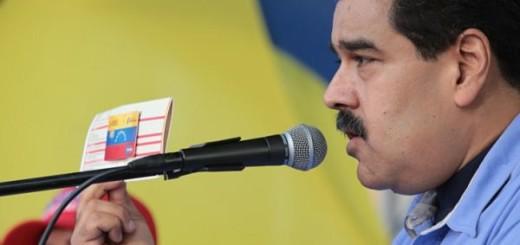 Presidente Nicolás Maduro durante entrega de tarjetas socialistas | Foto: archivo