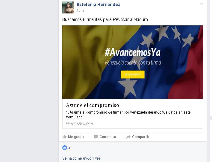 En los grupos prolifera esta web FALSA copia de la original revocalo.com y siendo proliferada por cuentas falsas tratando de engañar a los venezolanos