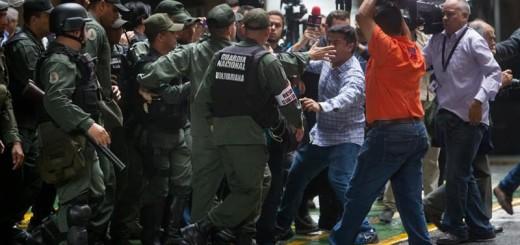 Periodistas en el CNE| Foto: Efectococuyo