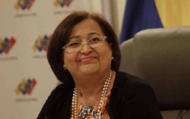 La presidenta del Consejo Nacional Electoral (CNE), Tibisay Lucena  Foto: La Patilla