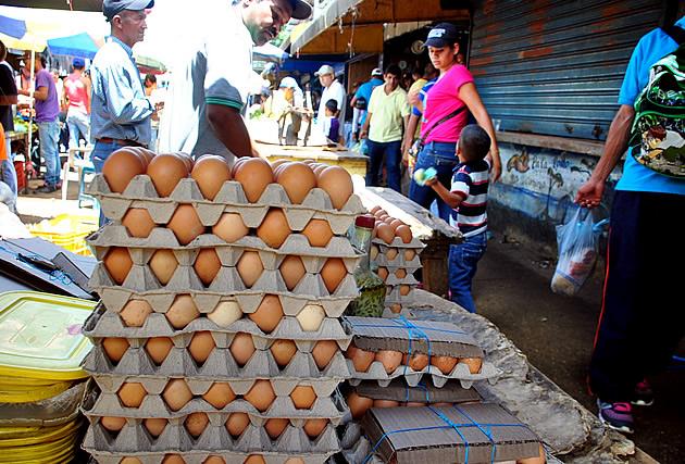 Cartón de huevos sube mil bolívares cada día   Foto referencial