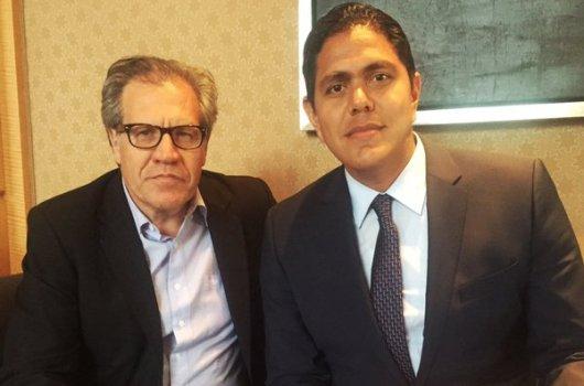 Diputado Lester Toledo junto al Secretario General de la OEA | Foto: Twitter