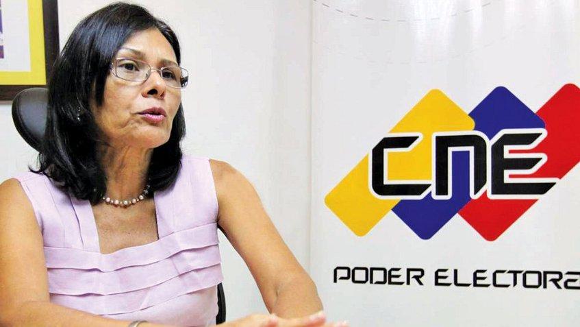 Rectora del CNE, Socorro Hernández | Foto: Archivo