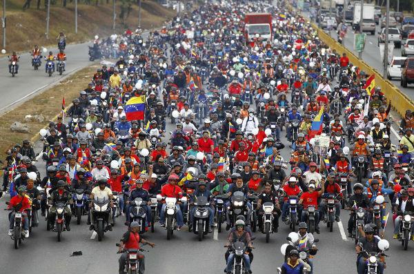 20 mil motorizados, acompañados por trabajadores del transporte público se movilizará en las calles de Caracas| Imagen de Referencia