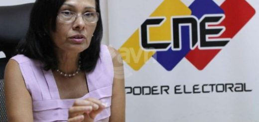 Rectora del CNE, Socorro Hernández | Foto: Cortesía