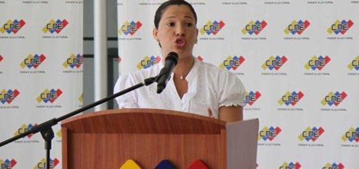 Rectora del CNE Tania D`Amelio |Foto archivo