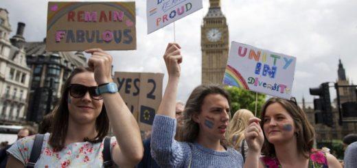 Jóvenes británicos en protesta contra el Brexit | Foto: AFP