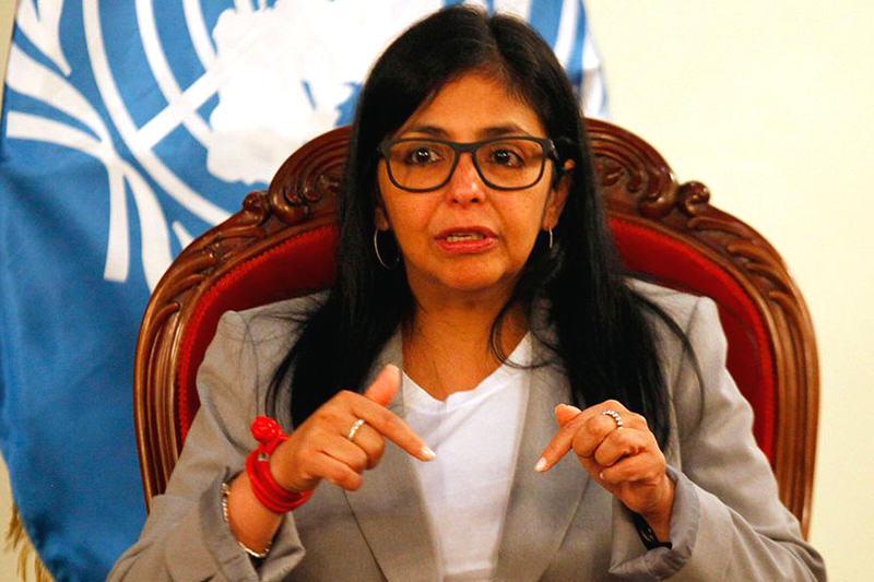Canciller de Venezuela, Delcy Rodríguez  Foto archivo